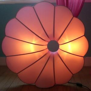 """Lampe design en soie """"Fleur"""" 80x80"""