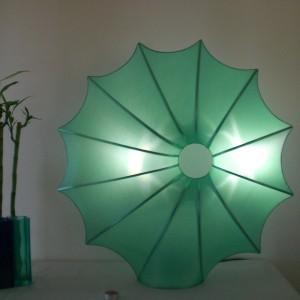 "Lampe design en soie ""Soleil"" 80x80"