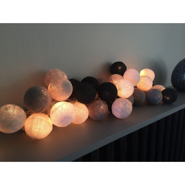 guirlandes boules lumineuses guirlande lumineuses 10 boules led color es 1m20 guirlande. Black Bedroom Furniture Sets. Home Design Ideas