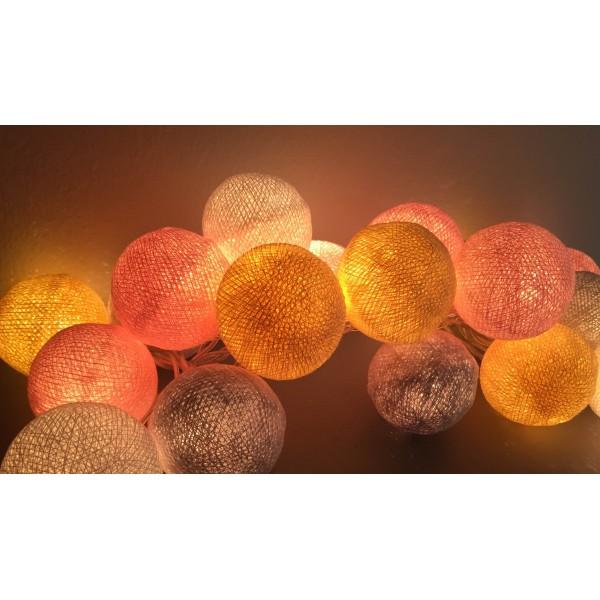 guirlande de 35 boules lumineuses. Black Bedroom Furniture Sets. Home Design Ideas