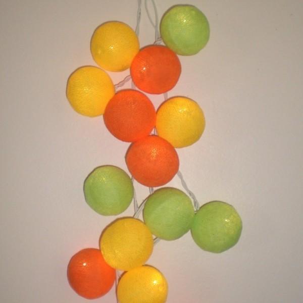 Vert anis, Orange et Jaune